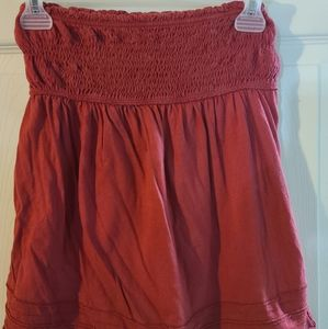 Maroon color tube top